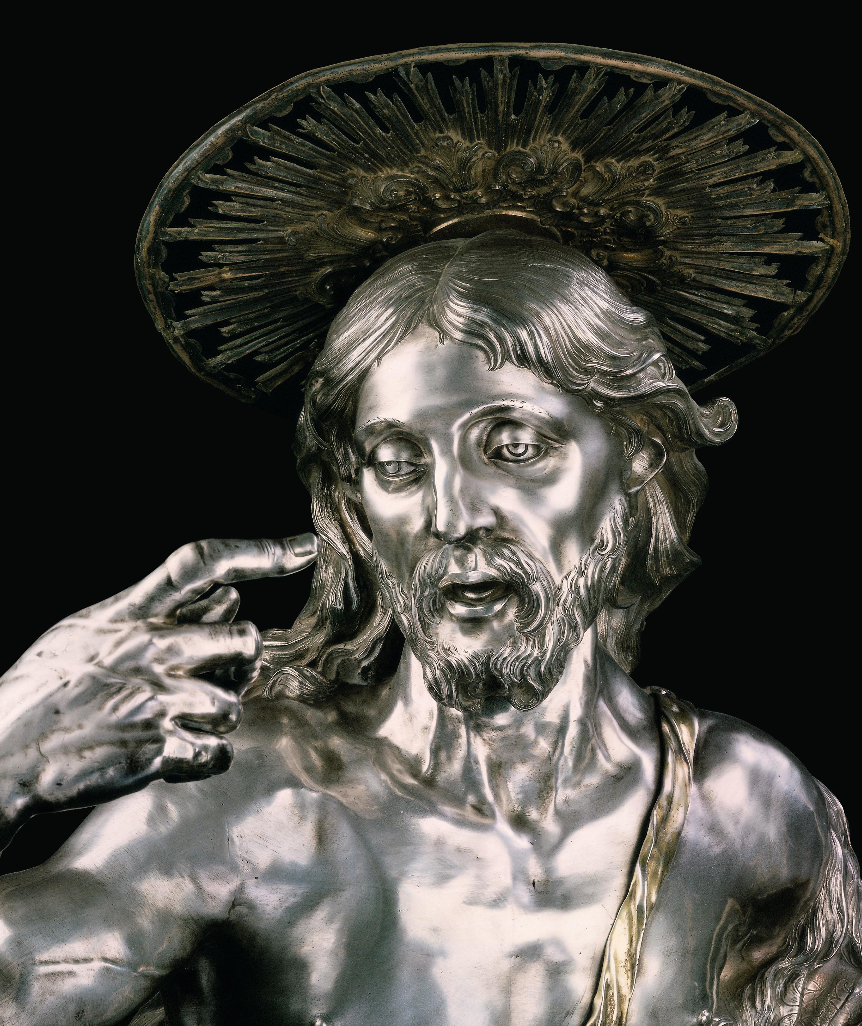 Ignoto-argentiere-napoletano-San-Giovanni-Battista-1695-argento-fuso-sbalzato-cesellato-rame-dorato