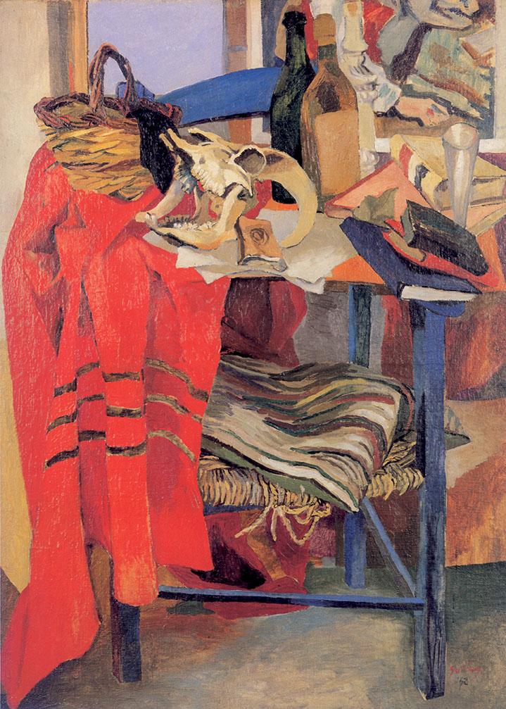 Renato Guttuso, Sedia, bucranio e drappo rosso