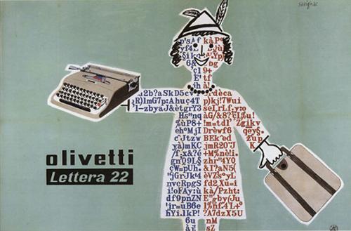 Il primo manifesto pubblicitario della Lettera 22