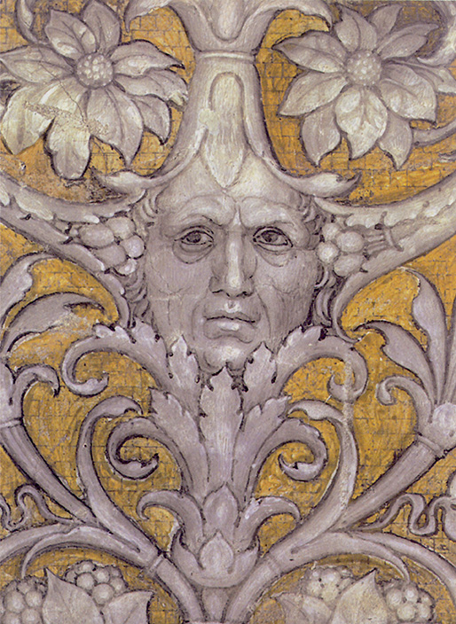Mantegna, Camera degli sposi, Autoritratto di Andrea Mantegna, particolare