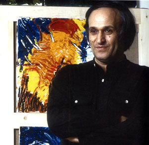 Mario Schifano nel 1963, anno di nascita del gruppo