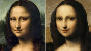 A sinistra, il quadro del Louvre. A destra, la tela conservata in un banca svizzera