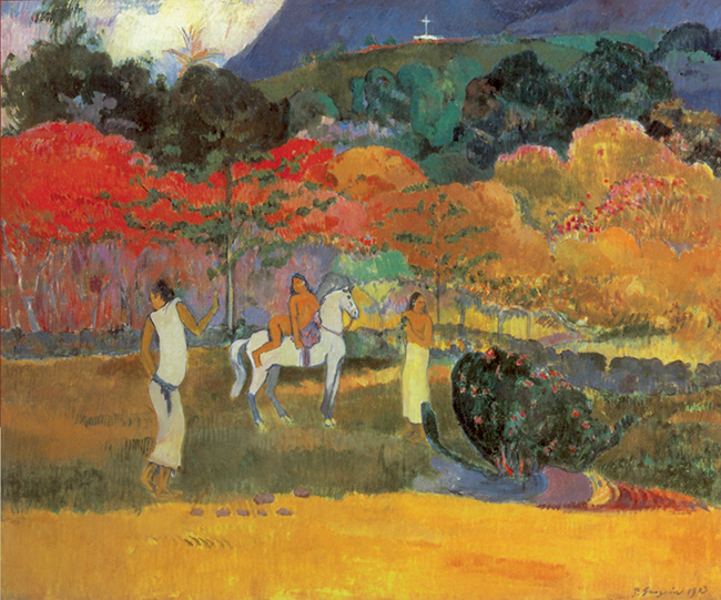 Paul Gauguin, Donne con cavallo bianco