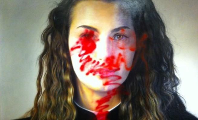 Il quadro iperrealista deturpato con lo spray