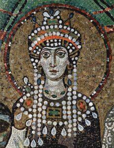Il mosaico che raffigura l'imperatrice Teodora, nella chiesa di san Vitale, a Ravenna