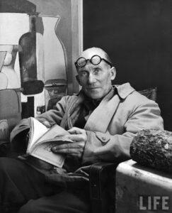 L'architetto Le Courbusier in una copertina di Life