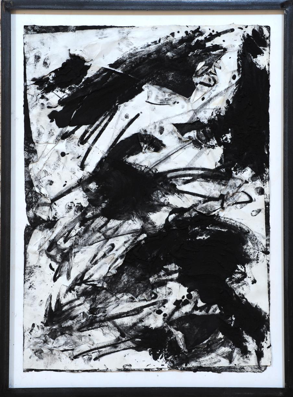 Giuseppe Spagnulo, Panorama scheletrico del mondo, 2008 sabbia vulcanica, ossido di ferro e carbone su carte sovrapposte