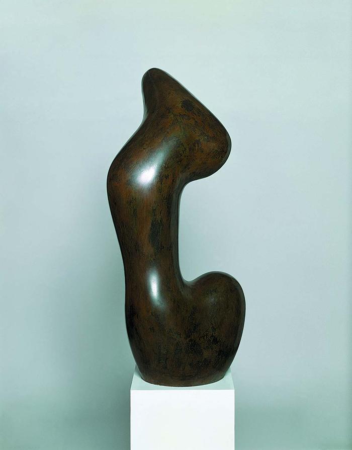 Jean Arp: Hurlou, 1957 Bronzo, cm 98 x 45 x 47