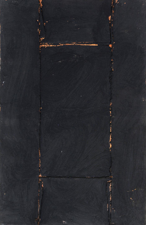 Giuseppe Spagnulo, Cartone, 1972 cartone cuoio, carbone