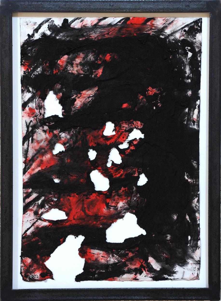 Giuseppe Spagnulo, Senza titolo, 2010 sabbia di vulcano, ossido di ferro nero, carbone