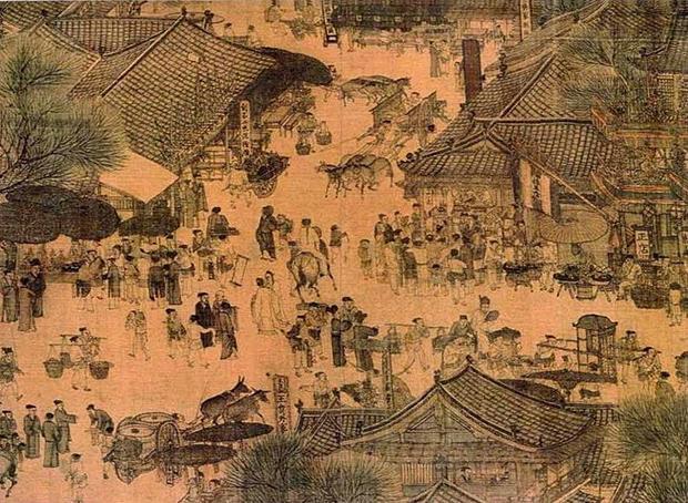 """Un dettaglio de """"Lungo il fiume durante il Festival Qingming"""""""