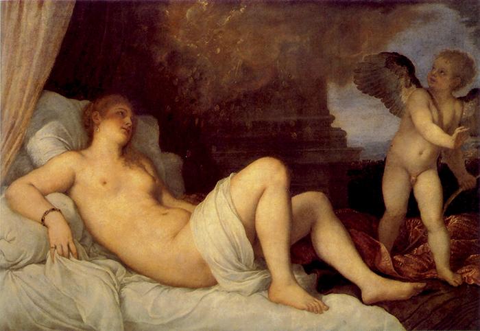 Tiziano, Danae. Anche questo soggetto, piuttosto ricorrente nella pittura rinascimentale,  avrebbe una connotazione propiziatrice legata alla ricchezza
