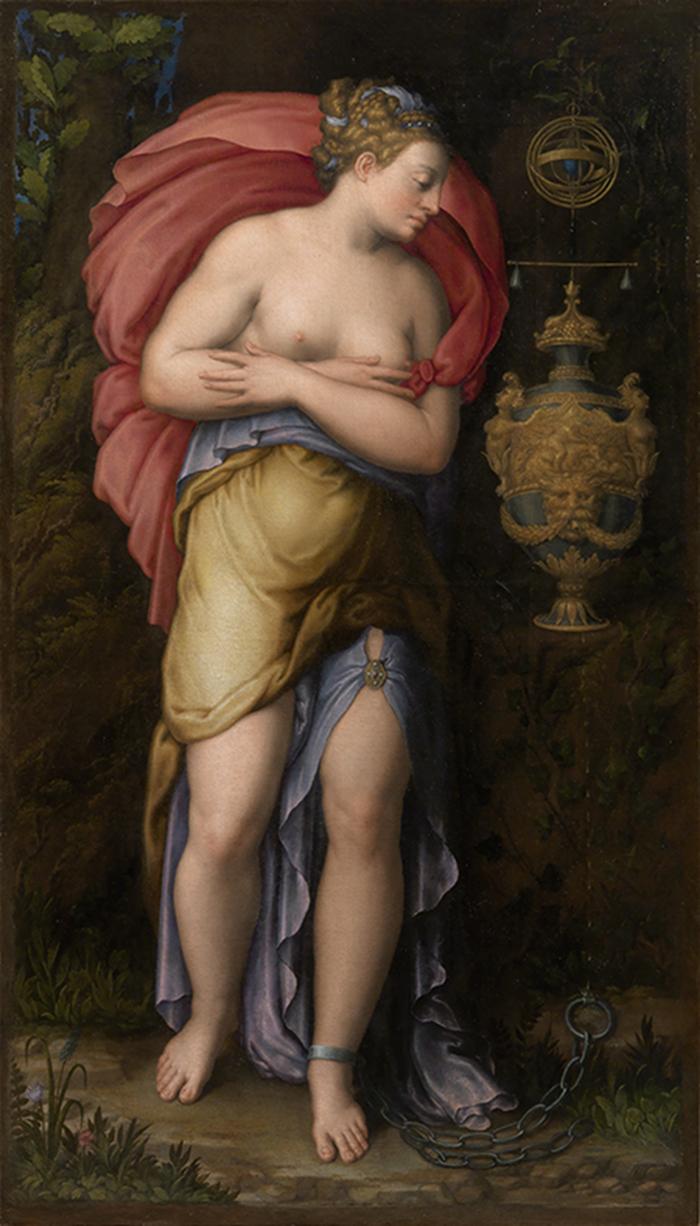 Giorgio Vasari (Arezzo, 1511- Firenze, 1574) Gaspar Becerra (Baeza, 1520 - Madrid, 1568) Allegoria della Pazienza Olio su tela, cm 178 × 102 Firenze, Galleria Palatina
