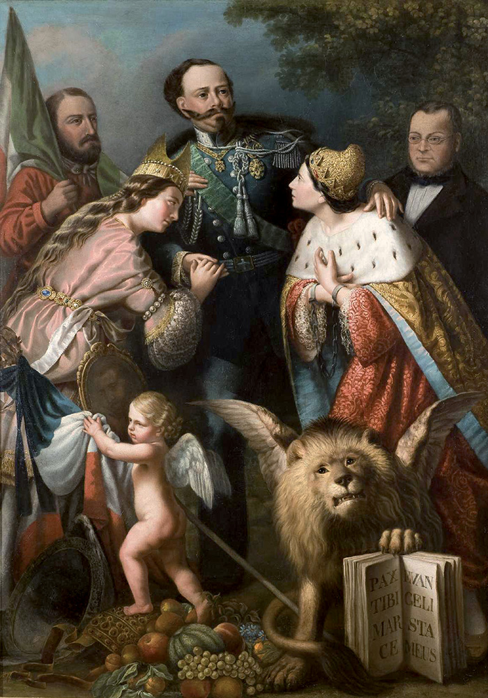 Giacomo Casa, Allegoria risorgimentale
