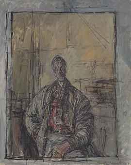 "Alberto Giacometti, ""Diego en chemise ecossaise'' (81.1 x 64.9 cm), olio su tela, 1952"