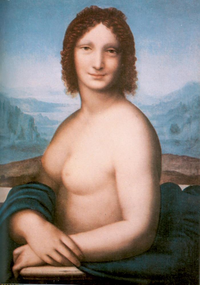 Gioconda nuda attribuita alla bottega o alla scuola di Leonardo