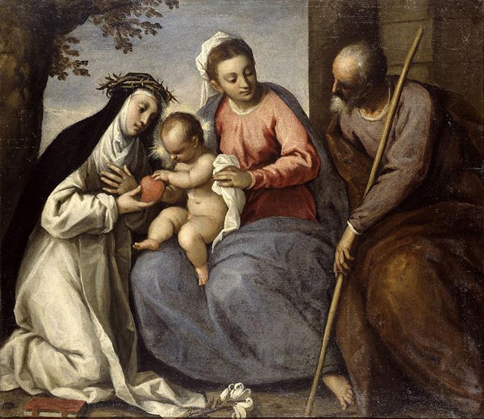 Palma il Giovane, Sacra Famiglia con santa Caterina da Siena © Bergamo, Accademia Carrara