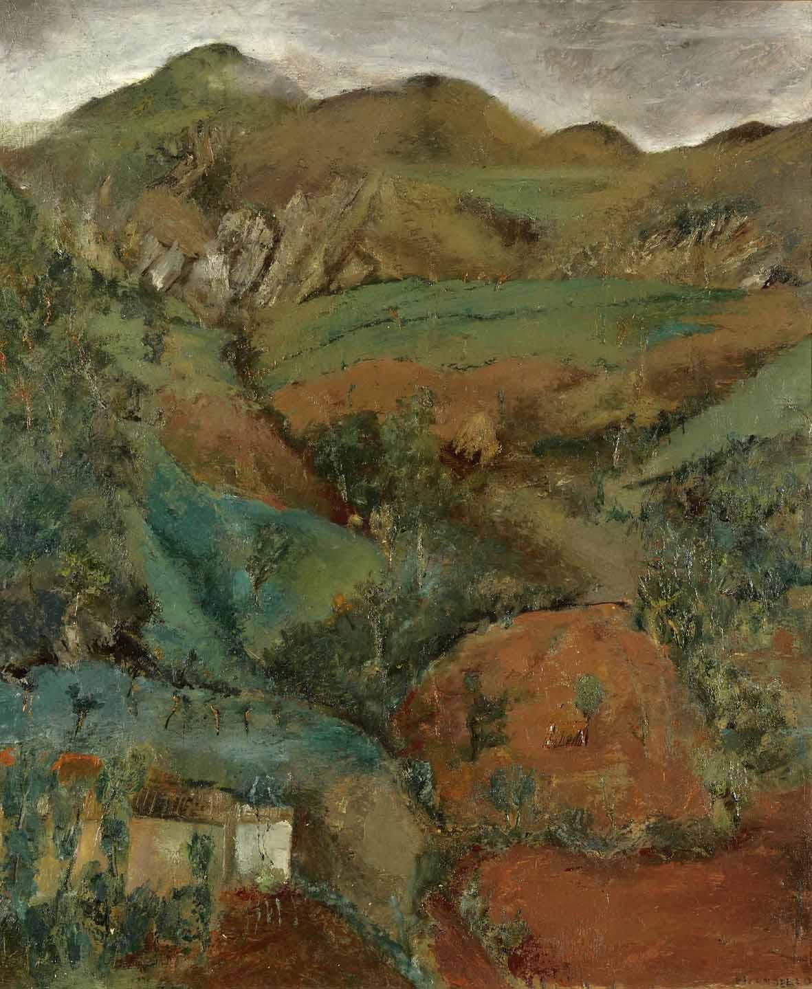 Fausto Pirandello: Monti del Lazio, 1937 ca. Olio su tavola, 72 x 63 cm