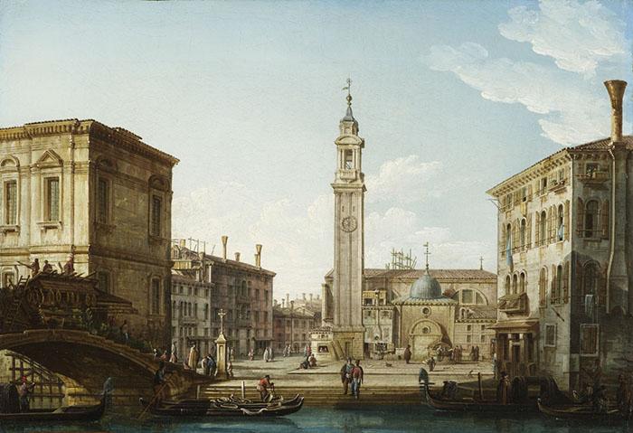 Pietro Bellotti, Il Campo SS. Apostoli dal Rio SS. Apostoli - collezione privata