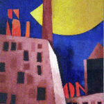 Tadini Emilio acrilico su tavola cm50x35