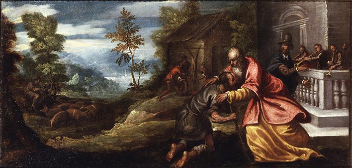Andrea Vicentino, Il ritorno del figliol prodigo  © Bergamo, Accademia Carrara