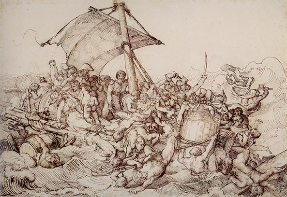 Théodore Géricault, Ammutinamento sulla zattera