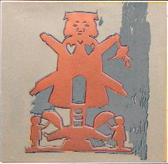andy warhol Hans Christian Andersen 1987 serigrafia su carta cm 101,6x101,6.