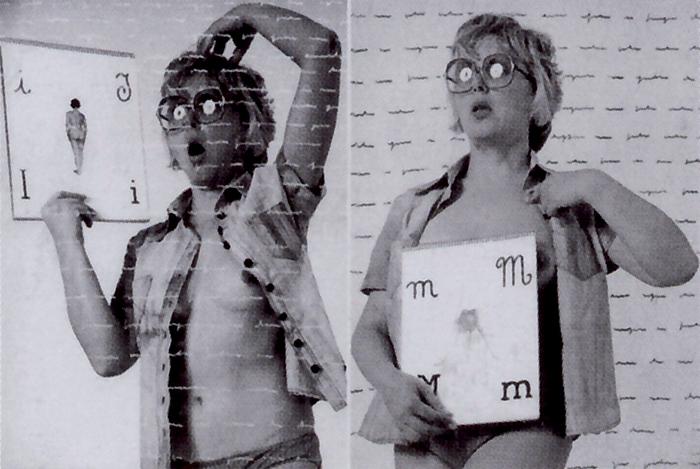 Tomaso Binga, Sono… IO, Sono… ME,  composizioni fotografiche e scrittura con inchiostro di china, 1976-77