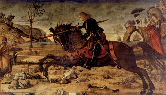 Vittore Carpaccio, San Giorgio in lotta col drago