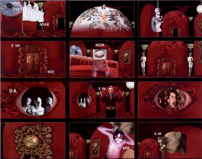 Coniglioviola, Rebus, fotogrammi da video, 2006