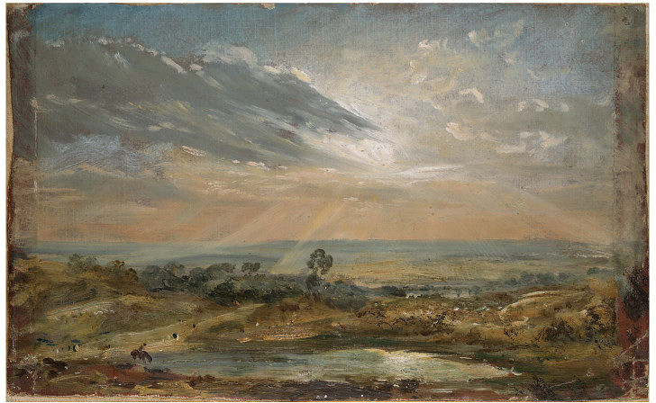 John Costable, Branch Hill Pond, Hampstead, © Victoria and Albert Museum, London. Il recto del dipinto