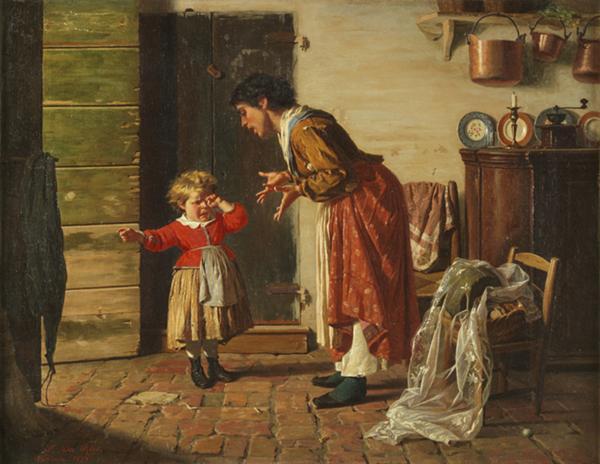 Luigi Da Rios , Cossa gastu fato?, 1878 Olio su tela, 40x53 cm Collezione Famiglia Da Rios