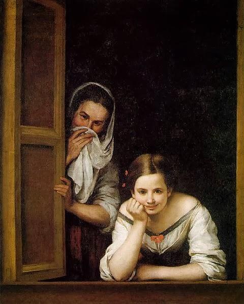 Bartolomé Esteban Murillo, Galiziane alla finestra, 1670, olio su tela, 124 cm × 104 cm