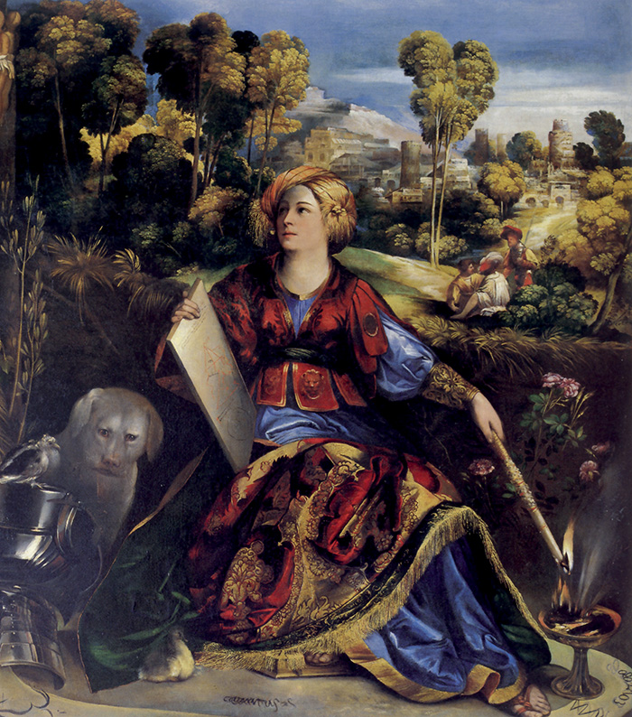 Dosso Dossi, Melissa, 1516 circa.  L'opera costituirebbe la trasposizione  di un momento dell'Orlando furioso