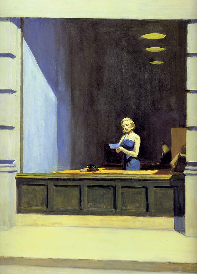 Edward Hopper, New York Office, particolare