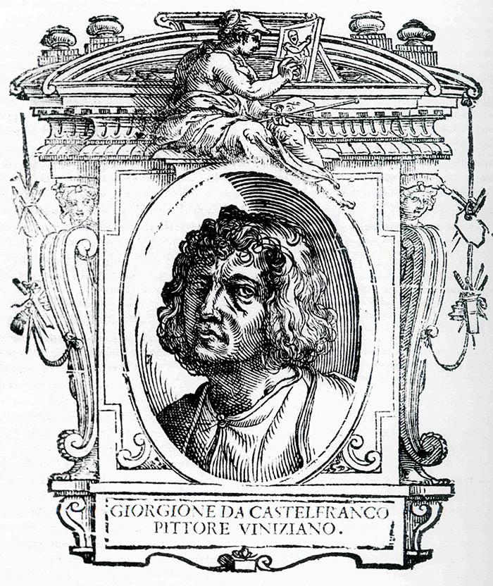 2. Cristofano Coriolano, Ritratto di Giorgione, in Giorgio Vasari, Le vite, edizione del 1568