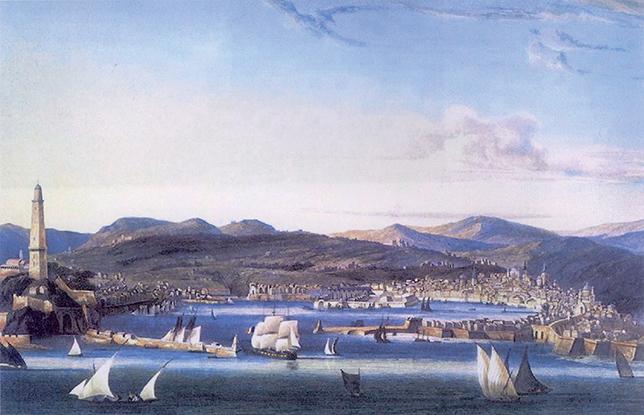 Ambroise-Louis Garneray, Veduta di Genova