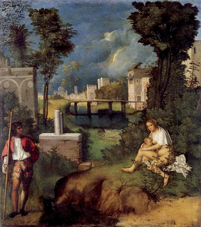 7. Giorgione, La Tempesta, Venezia, Gallerie dell'Accademia