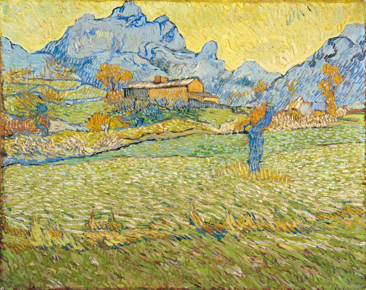 Vincent van Gogh, Campi di grano in un paesaggio collinare, 1889 olio su tela, cm 73,5 x 92 Otterlo, Kröller-Müller Museum