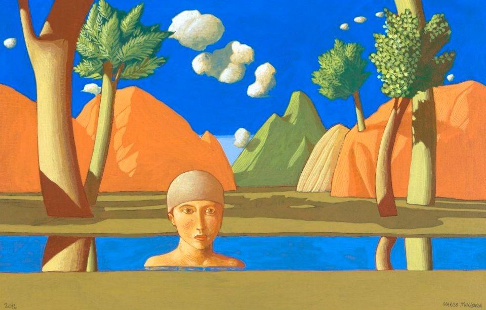 Marco Manzella, Paesaggio-con-Bagnante XIV