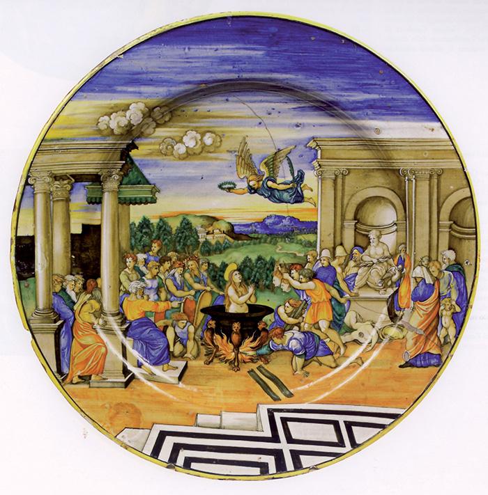 Nicola da Urbino, Martirio di santa Cecilia