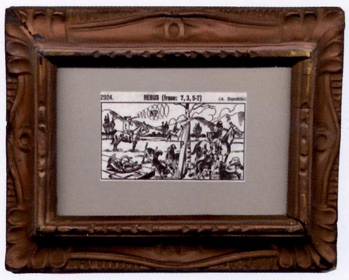 Aldo Spinelli, Corni C eco NP asse P arto UT  (Cornice con passepartout), collage, 1979
