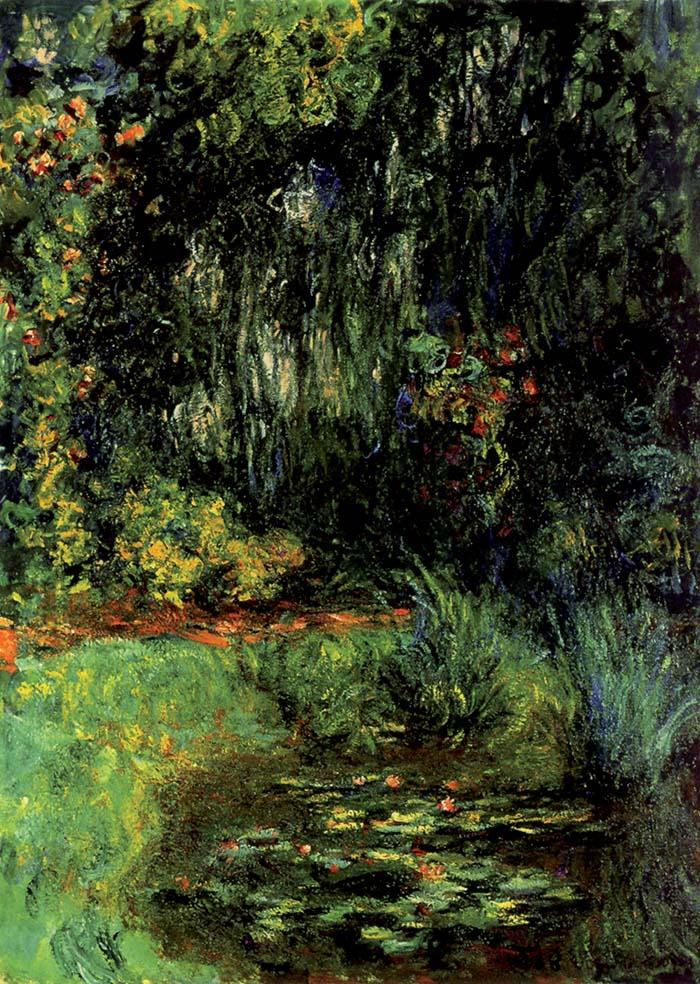 Claude Monet,  Angolo con il bacino delle ninfee, 1918-19