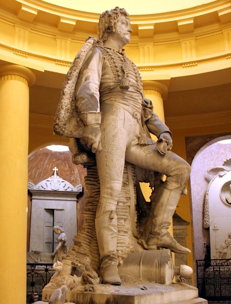 Vincenzo Vela (1820 - 1891), Gioacchino Murat, 1864. Certosa di Bologna, Sala del Colombario.