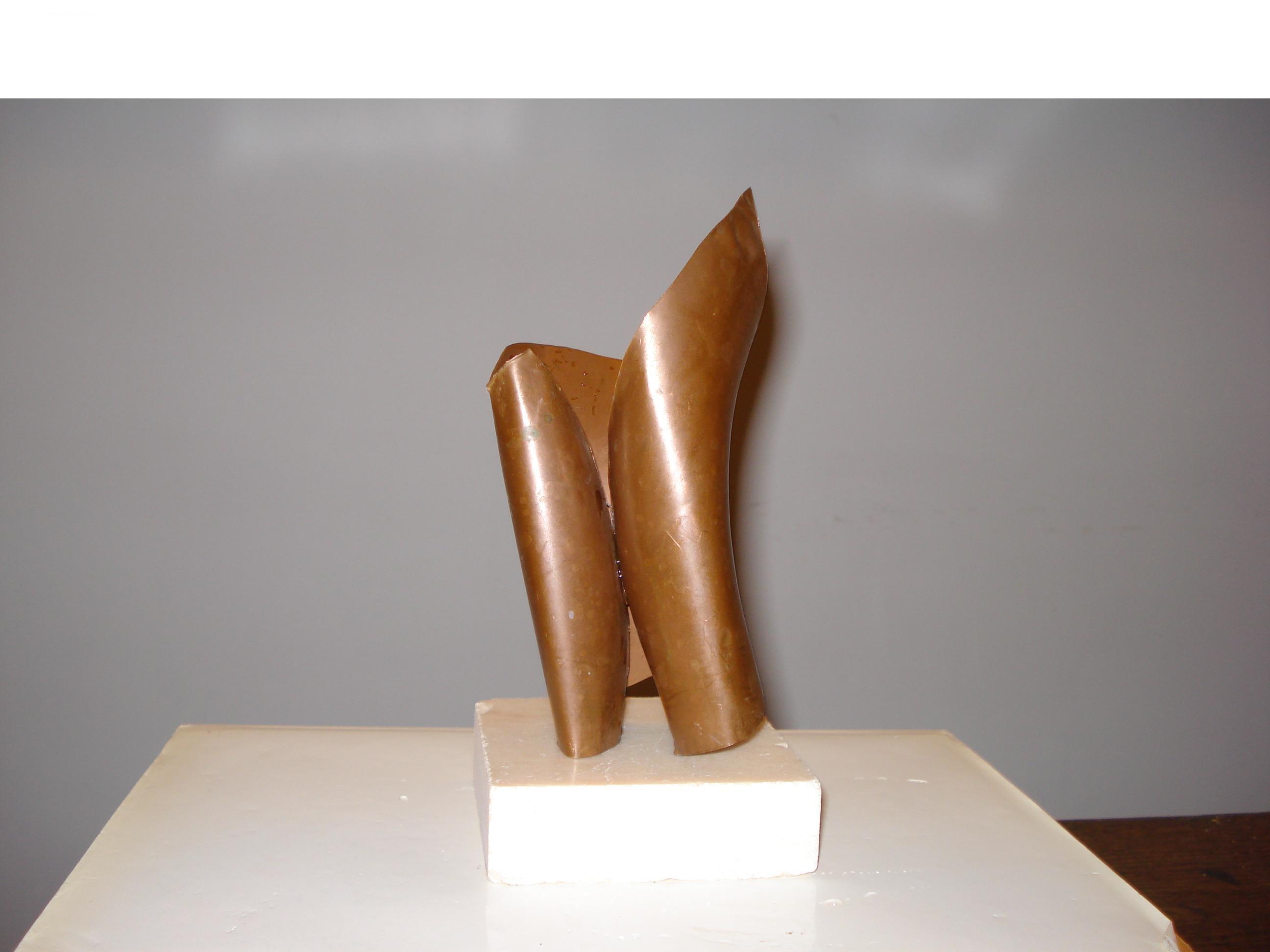 Alessandro Corsani - categoria over 25, Fiore di Calla, 2013, lamiera di rame, cm 18 x 7 x 5