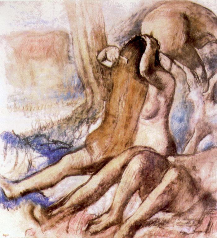 Edgar Degas, Bagnanti, una delle ultime opere