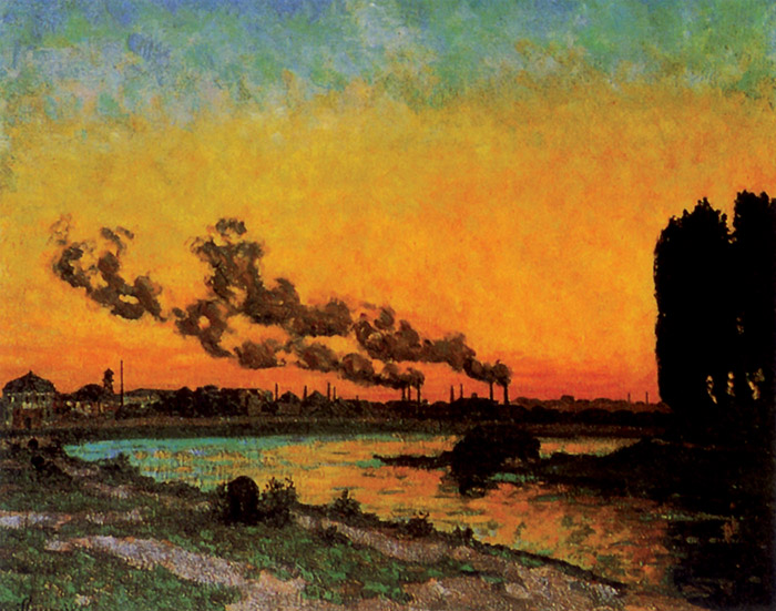 Guillaumin, Tramonto a Ivry, 1873