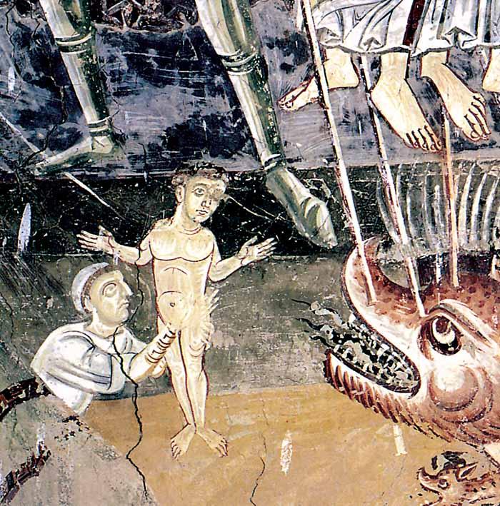 La vittoria degli arcangeli sul drago dell'Apocalisse (particolare), Civate