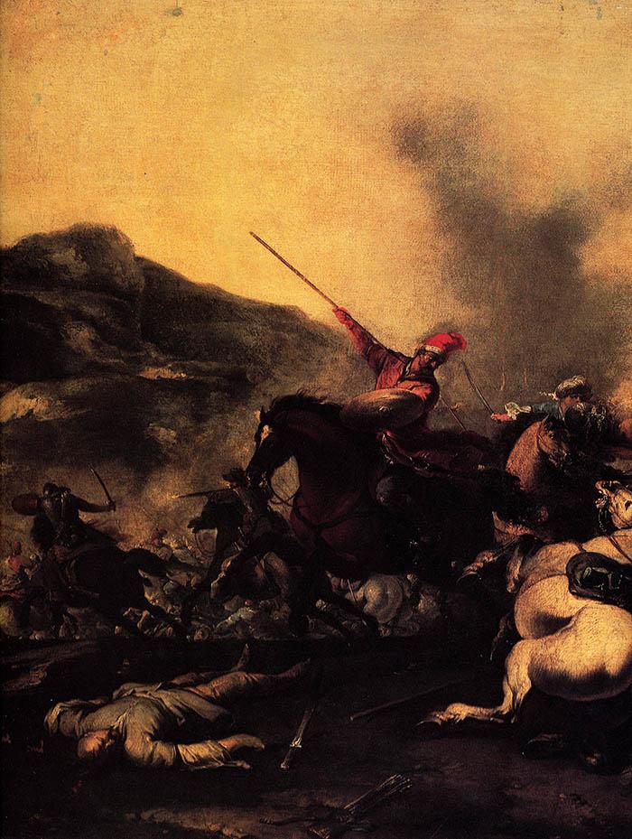 Jacques Courtois, il Borgognone, Combattimento di cavalieri imperiali e turchi (part.)