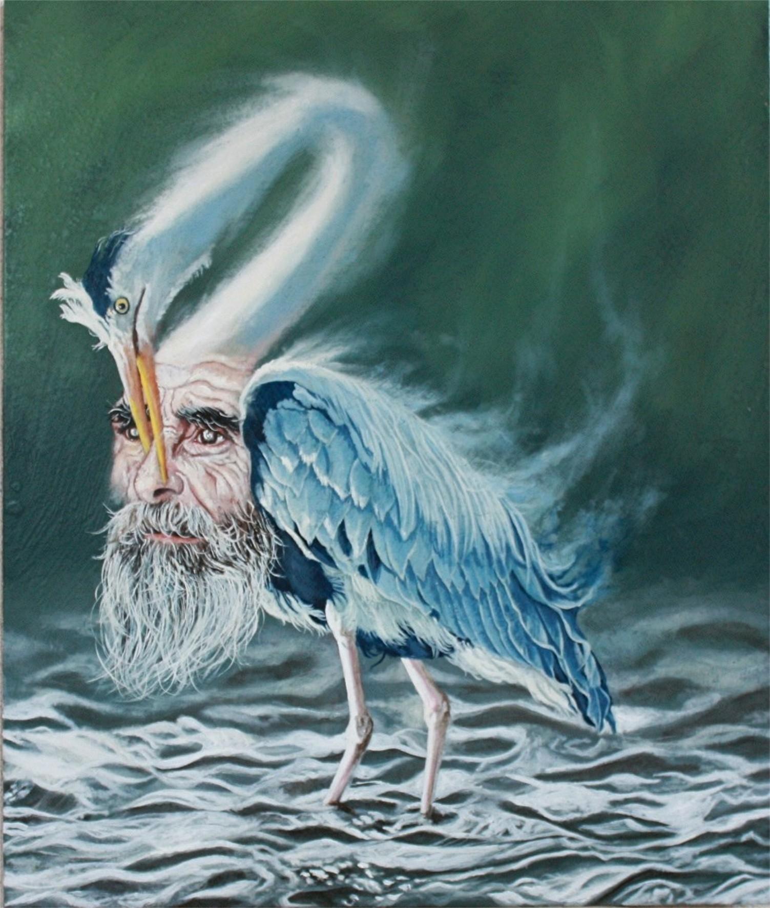 Alessandro Bulgarini, The bird of self knowledge, olio su tavola, cm 50 x 60, 2013